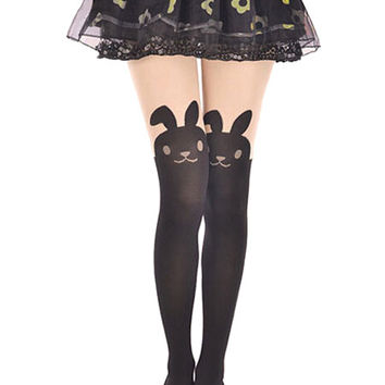 Rabbit Pattern Tights