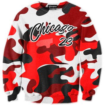 Chicago 23 Camo Crewneck