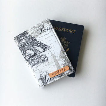 Personalized Passport Cover, Personalized Passport Holder, Travel Passport Wallet, Passport Case - Gift For Him