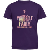 Halloween Always Be Yourself Fairy Purple Youth T-Shirt