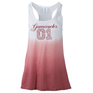Official NCAA University of South Carolina Fighting Gamecocks USC COCKY SC Women's Ombre Racerback Tank Top