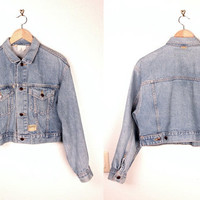 vintage esprit denim jacket // cropped fit