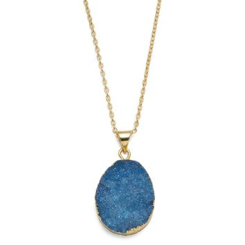 RISHIMA DRUZY DROP NECKLACE