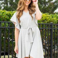 Social Butterfly Dress in Grey | Monday Dress Boutique