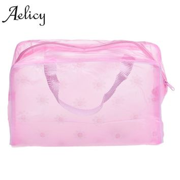 Aelicy Portable Makeup Cosmetic Toiletry Travel Wash Toothbrush Pouch Organizer Bag high quality convenient Bath Makeup Bag L
