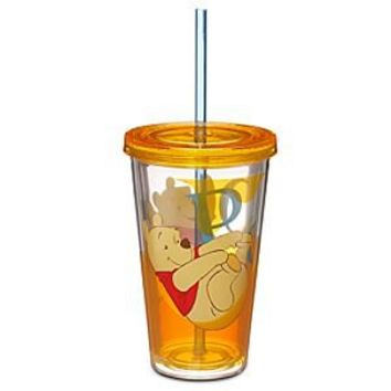 Winnie the Pooh Tumbler with Straw   Disney Store