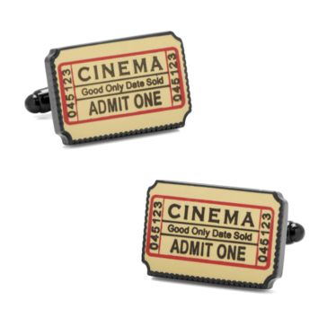 Film Movie Cinema Ticket Cufflinks