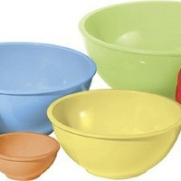 Oggi Melamine 6-Piece Mixing Bowl Set, Assorted Color