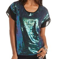 Sequin & Chiffon Top by Charlotte Russe