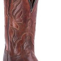 "Dan Post Women's Darby 11"" Leather Square Toe Cowgirl Western Boots Brown DP3693"