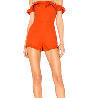 ale by alessandra x REVOLVE Merce Romper in Red Orange | REVOLVE