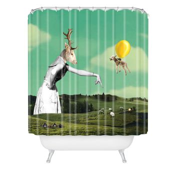 Natt Sheep And Balloon Shower Curtain
