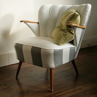 lyon 1940's cocktail chair with arms by hickey and dobson | notonthehighstreet.com