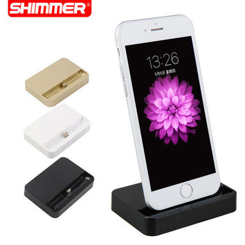 SHIMMER Portable Desktop Data Sync USB Cradle Dock Charger Charging Station For iPhone SE 5 5S 5c 6 Plus 6s 6s 7 plus
