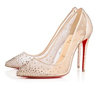 Follies Strass 100 Version Gold Strass/Lame Sirene - Women Shoes - Christian Louboutin