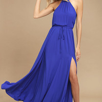 Essence of Style Royal Blue Maxi Dress