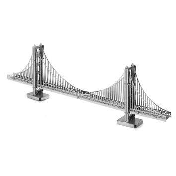 Golden Gate Bridge 3D Puzzle Metal Model Toys American Architecture Educational Toys Creative Gift Jigsaw Puzzle For Boy