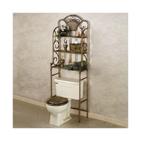 Landmark Taoyuan Court Continental retro multilayer toilet rack toilet toilet shelving factory direct anti-rust   Brown