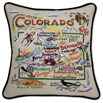Colorado Hand Embroidered Pillow
