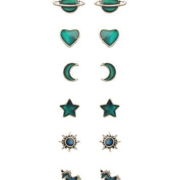 LOVEsick Multi Mood Earrings 6 Pair