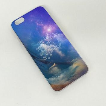 Sky Colorful Reflection Rubber Case for iPhone 5s 6 6s Case iPhone 6 6s Plus Gift-76-170928