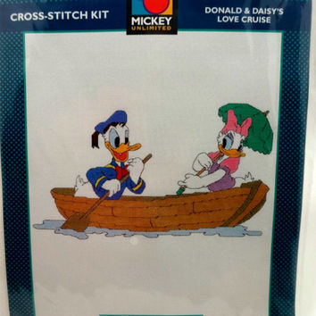 Donald and Daisy's Love Cruise Cross Stitch Kit - No. 36016 by Just CrossStitch Kits Disney