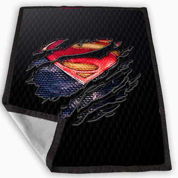 Clark kent Ripped Torn cloth Blanket for Kids Blanket, Fleece Blanket Cute and Awesome Blanket for your bedding, Blanket fleece **