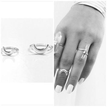 Sterling Silver Crescent Moon Ring Handmade with Love