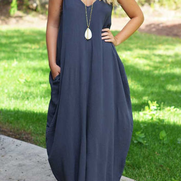Boho Pocket Maxi Dress