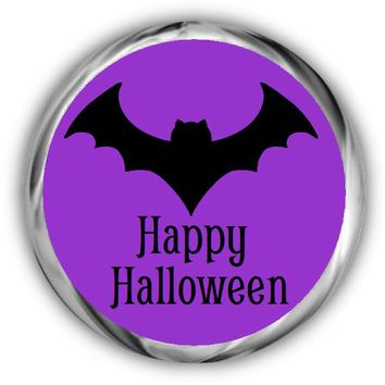 Bat Personalized Halloween Kisses Stickers