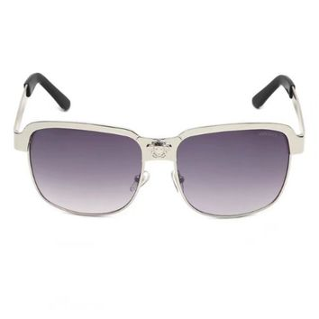 Versace  Aviator Sunglass Gray Brown Mirrored