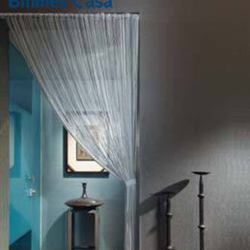Solid Color 100*200CM String Curtain Line Curtain Black White Door Curtain Room Divider Window Blind Valance Home Deco