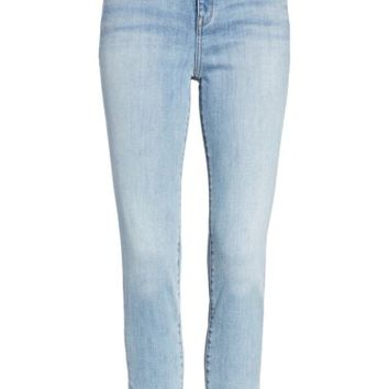 Treasure & Bond x Something Navy Pearl Crop Skinny Jeans (Rain Medium Vintage) | Nordstrom