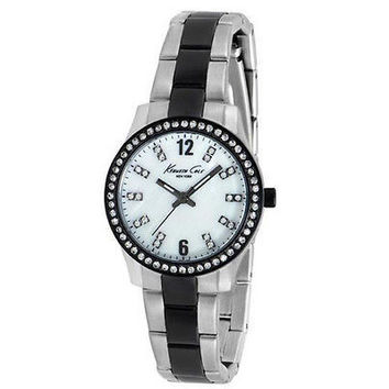 Kenneth Cole KCNY KC4901 Womens Black / Stainless Steel Watch Swarovski Crystals
