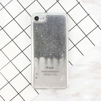 Fashion Glitter Bling Stars Case For Apple iPhone 7 Flash Powder aa038e3ad