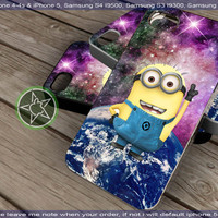 Despicable Me Minions Nebula for iPhone 4, iPhone 5, Samsung S4, Samsung S3, Samsung S2 Hot Edition
