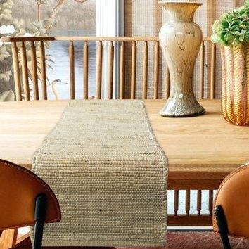 Eco-friendly Jute Table Runner, Natural Brown