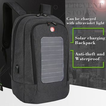 Solar Charging Backpack - 15 Inch Laptop