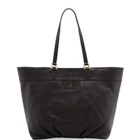 East-West Stacked-T Tote Bag, Black - Tory Burch