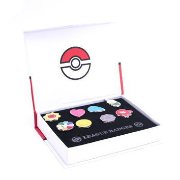 Pokemon Gym Badge Pin Set