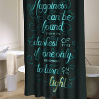 Harry Potter Quote Shower curtain