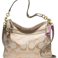 COACH POPPY SIGNATURE METALLIC PERRI HIPPIE - Coach Handbags - Handbags & Accessories - Macy's