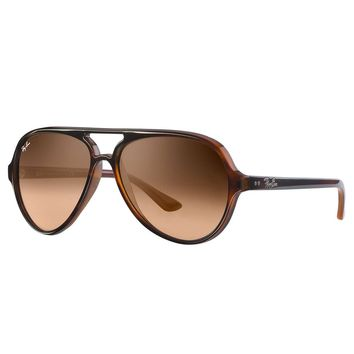 Ray-Ban Men's Cats 5000 Injected Sunglasses, Brown