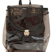 Jelly Mini Backpack - Clear Black