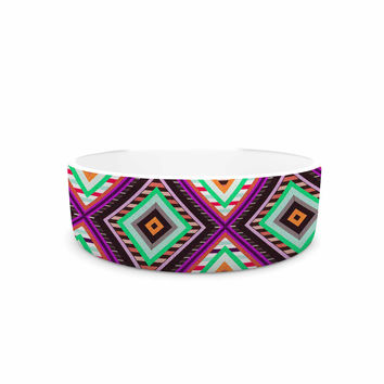 "Vasare Nar ""Boho Gipsy"" Purple Green Pet Bowl"