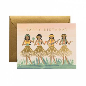 Hula Birthday Greeting Card by RIFLE PAPER Co. | Made in USA