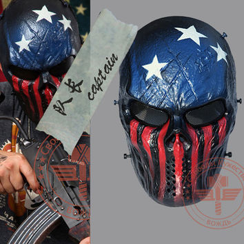2015 Captain Tactical Mask Outdoor Military Wargame Paintball Full Face Airsoft Tactical Skull Masks