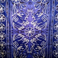 Batik Elephant Tapestry Blue - mellow mood