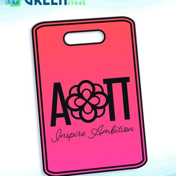 Alpha Omicron Pi Bag Tag