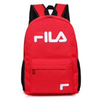 FILA New Fashion Letter Print Multifunction Travel Large Capacity Men Women Backpack Red